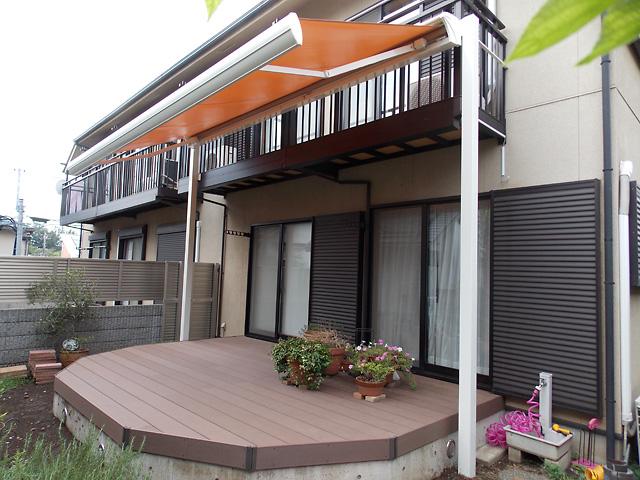 東京都杉並区に大型オーニングテント(日除け)を施工