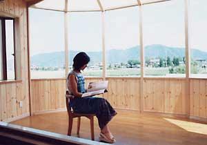 施工例14 ここで本を読んだり・・・