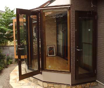 施工例03 庭に広がるパノラマ空間