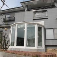 和洋折衷の既存住宅に悠Uサンルーム(外観)