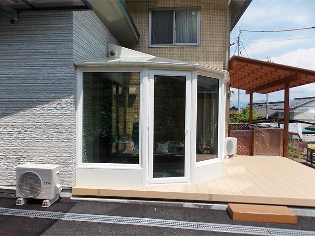 入り隅形状の建物に合った悠Uサンルーム2【長野県】